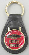 Chevrolet Chevy Truck Leather 4290 Gold Tone Key Ring 2000 2001 2002 2003 2004