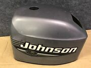 Used Early 2000and039s Johnson 35 Hp 3 Cylinder Outboard Manual Start Hood