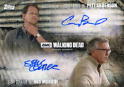 Walking Dead Season 5 Autograph Corey Brill And Steve Coulter As Pete And Reg 68/99