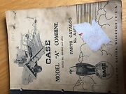 Case International A Combine Tractor Parts Catalog Manual Used