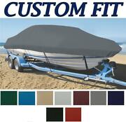 9oz Custom Exact Fit Boat Cover Smoker-craft 15 Tracer W/ Rails 2004-2006