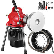 Drain Cleaner Sectional Pipe Cleaning Machine 500w Electric Snake Sewer 3/4-4