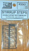 Tichy Train Group 3043 Ho Scale Stirrup Steps Double Offset Bottom Mount 10