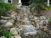 American Pond Medium Disappearing Waterfall Water Feature Kit -25 Spillway- Diy