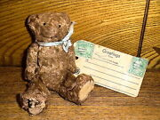 Antique Miniature Jointed Souvenir Teddy Bear W/ Tag From Yellowstone Park - 5