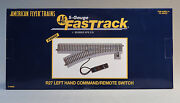 Lionel American Flyer Fastrack R27 Left Command/remote Switch S Gauge Lh 6-49885
