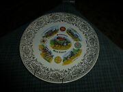 Vintage Pennsylvania Dutch Country Wall Hanging Plate Collector 9 Usa Vg