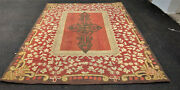 A Beauiful Antique American Hooked Rug 6x8ft Circa 1910