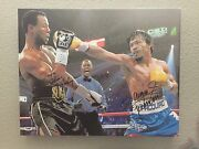 Manny Pacquiao And Sugar Shane Mosley Dual Signed 16x20 Canvas Psa/dna Coa