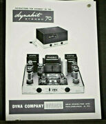 Dynaco St-70 Stereo 70 Amplifier Owner Assembly Manual Reprint Dyna Dynakit