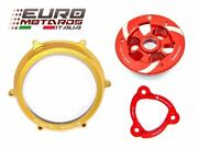 Ducati Panigale 1199 Ducabike Clutch Cover Gold Spring Retainer Press. Plate New
