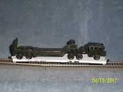 Roundhouse Ho Scale Flat Car Soo Line 5002 W/ Tank Hauler Truck And Trailer