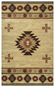 Rizzy Rugs Ivory Petals Shapes Lines Southwestern Area Rug Bordered Su2007