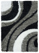 Rizzy Rugs Multi-color Thick Luxe Swirls Shag/flokati Area Rug Striped Km2323