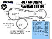Lionel Fastrack 40x60 Oval To A Play Ball Track Layout Set Add-on-pack Layout