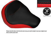 Black And Red Vinyl Custom For Harley Davidson Fatboy Flstf 06-14 Front Seat Cover