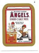 2016 Topps Mlb Baseball Wacky Packages Gold Parallel Angels Food Cake Mix