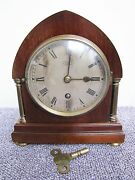 """Antique English 2 Column Time Only Mantel Clock """"russells Ltd Early 1900s"""