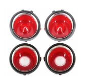 1970-71 Early Camaro Tail Light Lens Set W/o Rs Trim New Trimandnbspparts