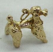 Heavy Solid 9ct Gold French Poodle Charm