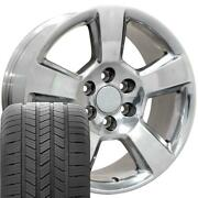 Oew Fits 20x9 Polished Tahoe Wheels And Tires 20 Rims Chevy Gmc