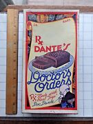 1930 Dante Candy Co. Doctorand039s Orders Candy Bar Store Display Box. Rare