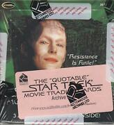 The Quotable Star Trek Movie Trading Cards 2010 - A Factory Sealed Archive Box