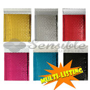 High Quality Metallic Gloss Bubble Padded Envelopes Various Colours 180 X 250mm