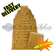 Arofol Genuine Gold Bubble Padded Lined Envelopes Mailers Bags All Sizes/qtyand039s