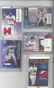 5 Very Hard T0 Fine Rare Chipper Jones Cards All To His Jersey 10
