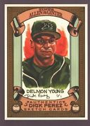 Delmo Young Tampa Rays Rare Dick Perez Sketch Art 2007 Topps Allen And Ginter