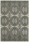 Sphinx Blue Rings Curls Orbs Circles Contemporary Area Rug Geometric 7818a
