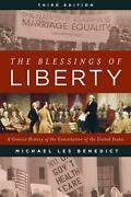 Blessings Of Liberty A Concise History Of The Constitution Of The United States