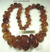 Baltic Amber Bead Necklace 35 Inches 470.80gr. 2354.00ct.39 Beads Scandinavia