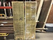 Great Pair Victorian Louver House Window Shutters Old Yellow Paint 69.5 X 20