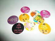 Pre Cut One Inch Bottle Cap Images Keep Calm Candy Crush Free Shipping