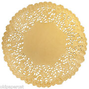 150 - 12 Gold Metallic Foil Paper Doilies | Placemat Gold Doily | Gold Chargers