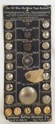 Vintage Defiance Button Machine Co Sew No More Metal Buttons Sample Card Various