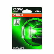 2x C5w Osram Ultra Life Number Plate Light Bulbs License Lamps Genuine