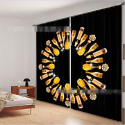 3d Wine Bottles Blockout Photo Curtain Printing Curtains Drapes Fabric Window Au