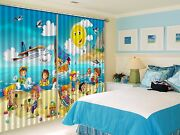 3d Happy Kids 7 Blockout Photo Curtain Printing Curtains Drapes Fabric Window Au
