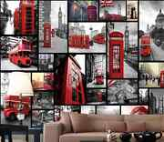 3d Art Red Phone Booth 0459 Wall Paper Wall Print Decal Wall Deco Aj Wallpaper
