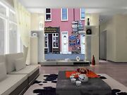 3d Red Houses Shops 1093 Wall Paper Wall Print Decal Wall Deco Aj Wallpaper