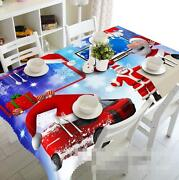 3d Santa Claus 64 Tablecloth Table Cover Cloth Birthday Party Event Aj Wallpaper