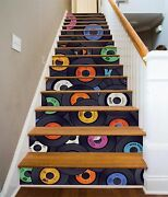 3d Compact Disc 25 Stairs Risers Decoration Photo Mural Vinyl Decal Wallpaper Us