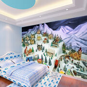 3d Christmas Houses 4 Wall Paper Wall Print Decal Wall Deco Indoor Aj Wall Paper