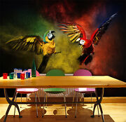 3d Colored Parrots 242 Wall Paper Wall Print Decal Wall Deco Indoor Aj Wall Pape