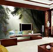 3d Mega Forest Lake White Swans67 Wall Paper Wall Print Decal Wall Aj Wall Paper
