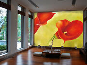3d Special Curly Red Flowers 28 Wall Paper Wall Print Decal Wall Aj Wall Paper