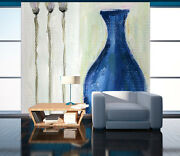 3d Blue Porcelain Vase Painting 7 Wall Paper Wall Print Decal Wall Aj Wall Paper